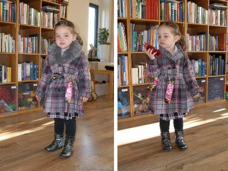 Vinrose Winterjas.Vinrose Winterjas Julia Grey Moossie Kinderkleding