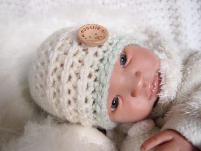 gehaakte baby beanie muts