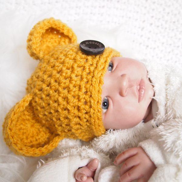 gehaakte-baby-berenoor-muts