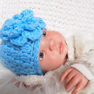 baby-beaniemuts-grote-bloem