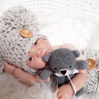 baby-pompoen-muts-tweed-gehaakt