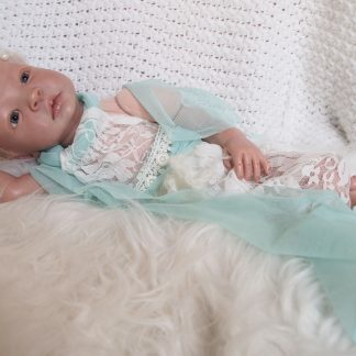 Babyset met kanten broek met haltertop
