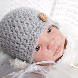 gehaakte-muisgrijze-baby-beanieklot