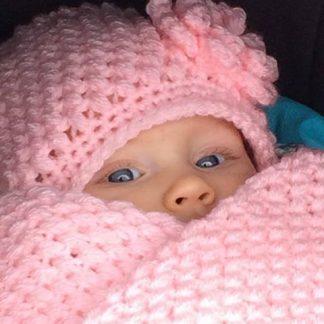 Babymuts met sjaal of Col