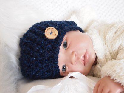 sparkle-donkerblauw-baby-mutsje